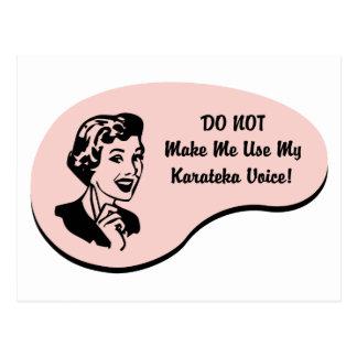 Karateka Voice Postcard