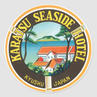 Karatsu Seaside Hotel Ad Round Sticker