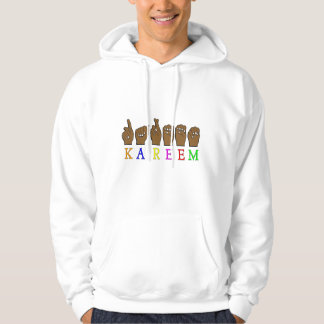 KAREEM ASL FINGERSPELLED NAME SIGN DEAF HOODIE