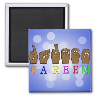 KAREEM ASL FINGERSPELLED NAME SIGN DEAF MAGNET