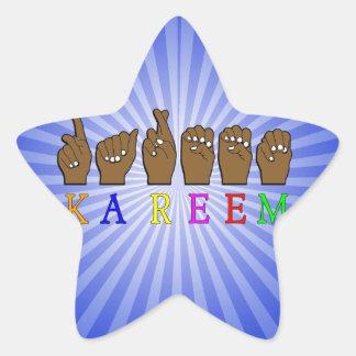 KAREEM ASL FINGERSPELLED NAME SIGN DEAF STAR STICKER