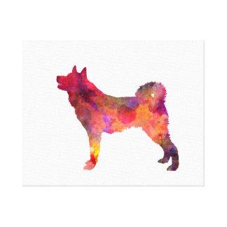 Karelian Bear Dog in watercolor Canvas Print