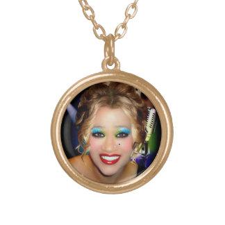 Karen 2 round pendant necklace