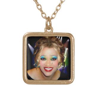 Karen 3 square pendant necklace