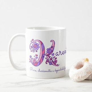 Karen name meaning decorative K monogram mug