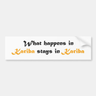 Kariba Bumper Sticker