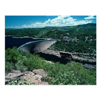 Kariba hydro-electric scheme, from Zimbabwe side Postcard