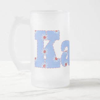 KARIN FROSTED GLASS BEER MUG