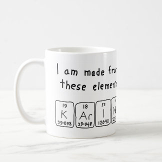 Karine periodic table name mug