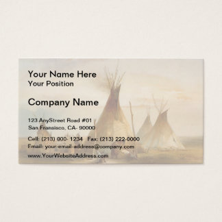 Karl Bodmer- Sioux teepee Business Card
