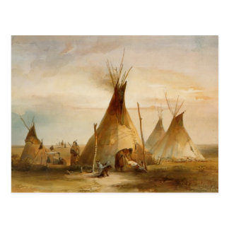 Karl Bodmer- Sioux teepee Postcard
