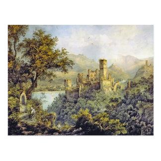 Karl Bodmer- Stolzenfels Castle,in Lahneck Castle Postcard