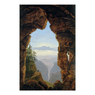 Karl Friedrich Schinkel The Gate in the Rocks Poster