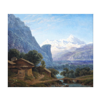 Karl Friedrich Schinkel View of Mont Blanc Canvas Print