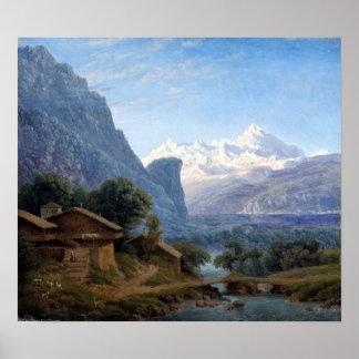 Karl Friedrich Schinkel View of Mont Blanc Poster
