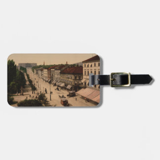 Karl Johans Gade and Slottet, Oslo, Norway Luggage Tag