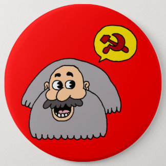 Karl Marx 6 Inch Round Button