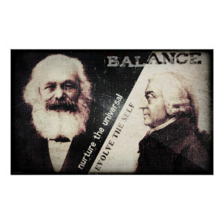 Karl Marx and Adam Smith the zen of Print