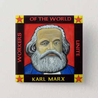 Karl MARX button badge
