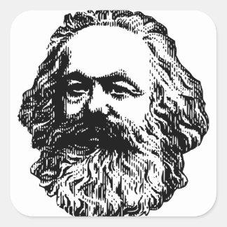 Karl Marx - Communism Square Sticker