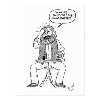 Karl Marx failing SPGB test Postcard