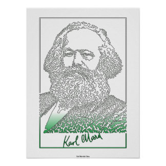 Karl Marx. German philosopher and economist [003] Poster