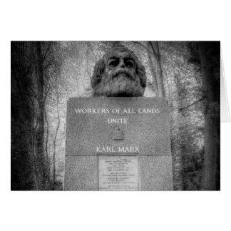 Karl Marx Memorial London Card