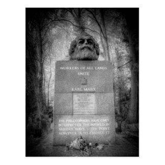 Karl Marx Memorial London Postcard