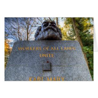 Karl Marx Memorial Statue London Card