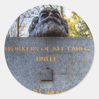 Karl Marx Memorial Statue London Classic Round Sticker