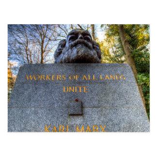 Karl Marx Memorial Statue London Postcard