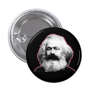 Karl Marx red outline/black 1 Inch Round Button
