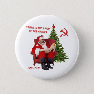 Karl Marx Santa 2 Inch Round Button