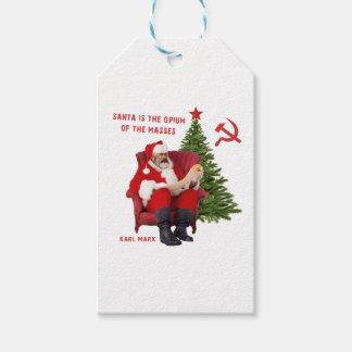 Karl Marx Santa Gift Tags