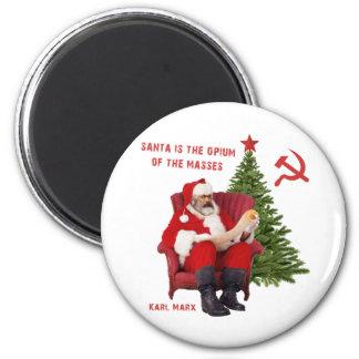 Karl Marx Santa Magnet