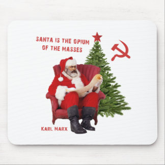 Karl Marx Santa Mouse Pad