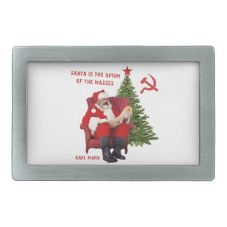 Karl Marx Santa Rectangular Belt Buckles