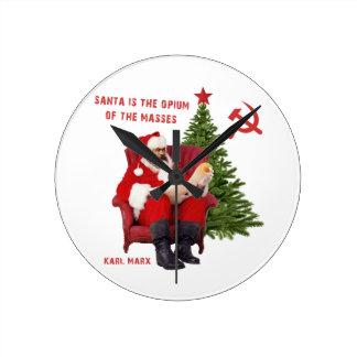 Karl Marx Santa Round Clock