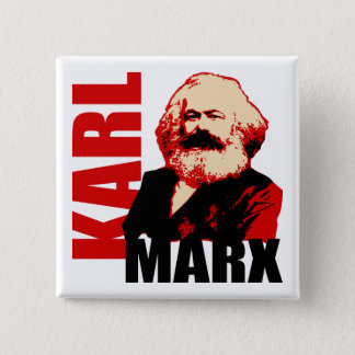 Karl Marx, Socialist & Communist 2 Inch Square Button