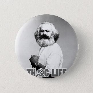 Karl Marx Thug Life 2 Inch Round Button