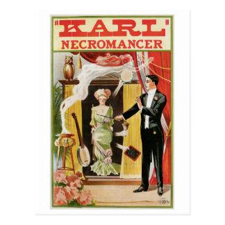 Karl ~ Necromancer Magician Vintage Magic Act Postcard