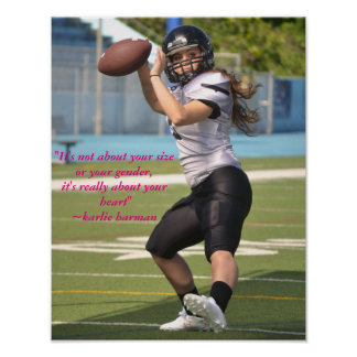Karlie Harman Football Poster With Quote