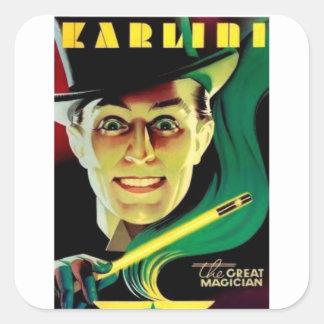 Karlini the Magician Square Sticker