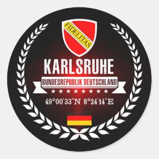 Karlsruhe Classic Round Sticker