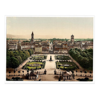 Karlsruhe, general view, Baden, Germany magnificen Postcard