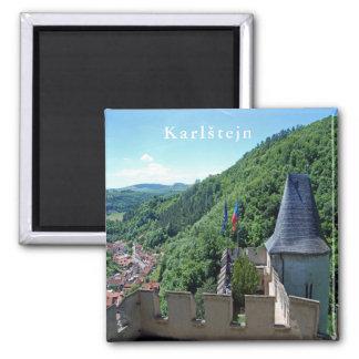 Karlstejn Castle. Landscape. Magnet