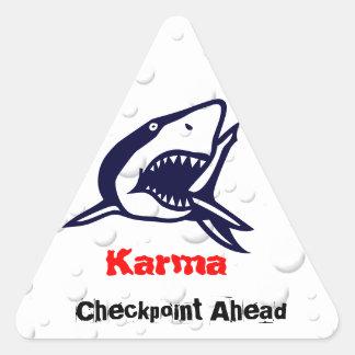 Karma 1 triangle sticker