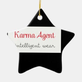 karma Agent - intelligent wear, positive energy Ceramic Ornament