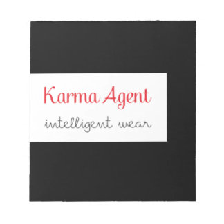 karma Agent - intelligent wear, positive energy Notepad