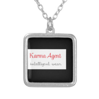 karma Agent - intelligent wear, positive energy Silver Plated Necklace
